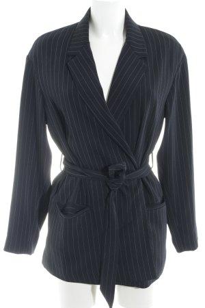 Mango Suit Blazer de esmoquin azul oscuro-blanco raya diplomática
