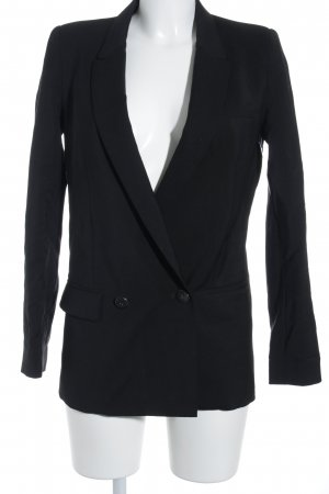 Mango Suit Smoking-Blazer schwarz-goldfarben Business-Look