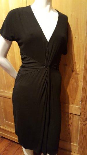 Mango Suit T-shirt jurk zwart Katoen