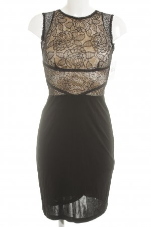 Mango Suit Lace Dress oatmeal-black extravagant style