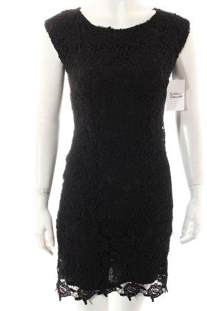 Mango Suit Spitzenkleid schwarz Elegant