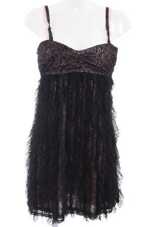 Mango Suit Spitzenkleid schwarz-roségoldfarben Elegant