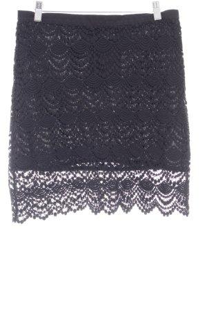 Mango Suit Lace Skirt black elegant