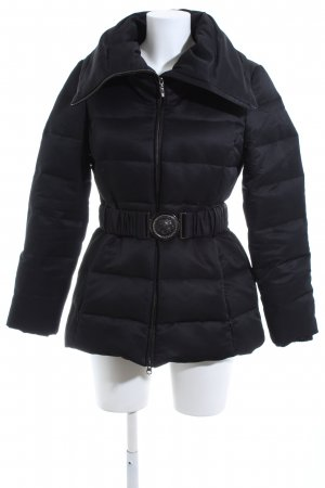 Mango Suit Manteau matelassé noir motif de courtepointe style décontracté