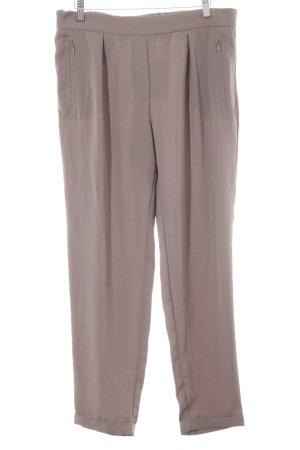 Mango Suit Pantalone jersey marrone chiaro stile casual