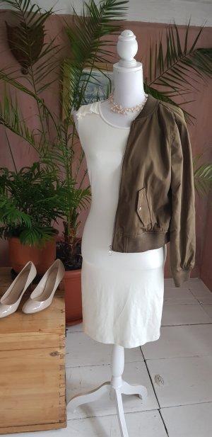 Mango Suit Stretch jurk wit-wolwit