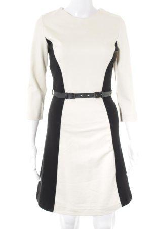 Mango Suit Vestido elástico crema-negro elegante