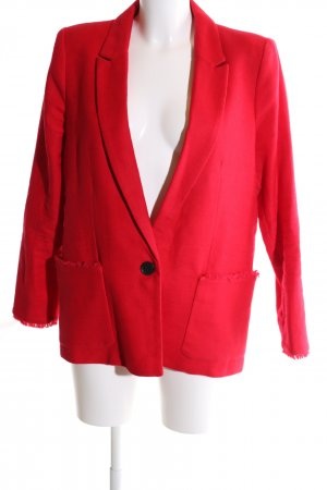 Mango Suit Knitted Blazer red business style