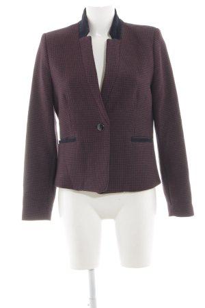 Mango Suit Strickblazer rot-schwarz Business-Look