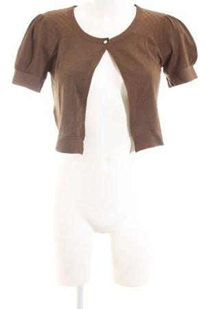 Mango Suit Torera de punto color bronce look casual