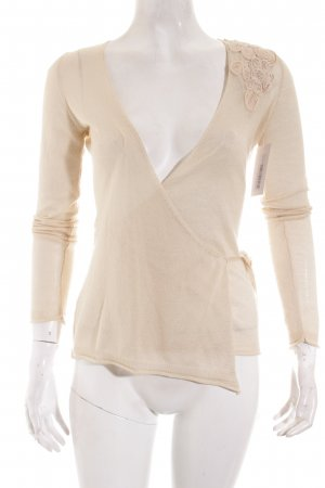 Mango Suit Strickjacke creme Street-Fashion-Look