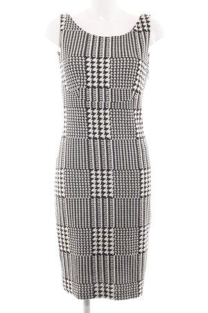 Mango Suit Strickkleid weiß-schwarz Allover-Druck Business-Look