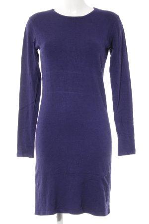 Mango Suit Strickkleid dunkelviolett Punktemuster Casual-Look