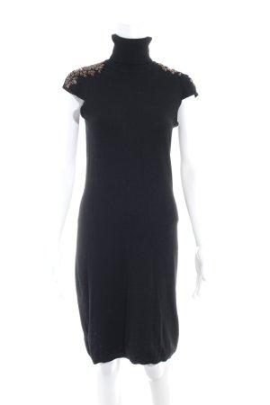 Mango Suit Abito di maglia nero-marrone elegante