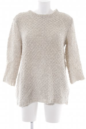 Mango Suit Strickpullover creme Casual-Look