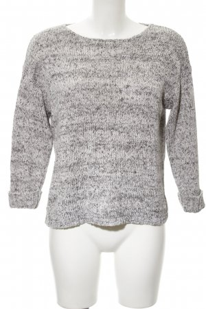 Mango Suit Strickpullover hellgrau-wollweiß Webmuster Casual-Look