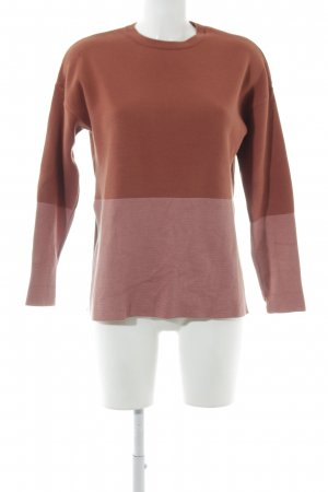 Mango Suit Strickpullover rostrot-lachs Casual-Look