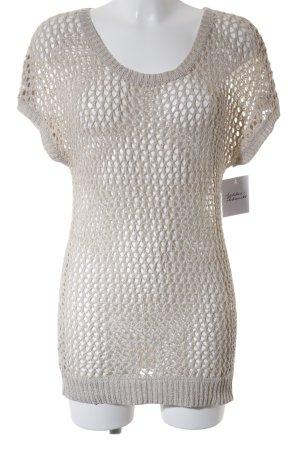 Mango Suit Strickshirt hellbeige Lochstrickmuster Casual-Look