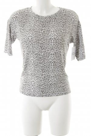 Mango Suit Knitted Jumper white-grey leopard pattern casual look