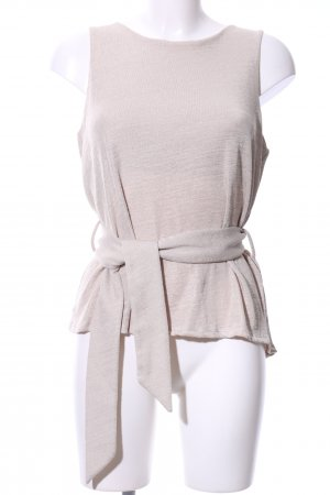 Mango Suit Knitted Top cream casual look