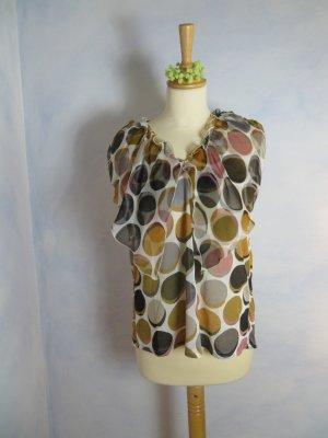 807579600ec7d4 Mango suit süsses Oberteil Bubble Muster lockere Bluse Gr. 38 Business Look