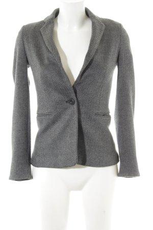 Mango Suit Blazer de tela de sudadera negro-gris estampado de zigzag