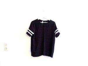 Mango Suit T-Shirt Gr. L 40 schwarz weiß transparent Viskose
