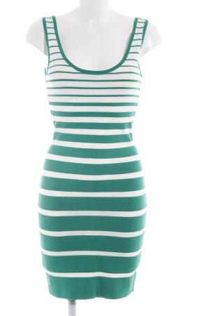 Mango Suit Trägerkleid grün-weiß Streifenmuster Casual-Look