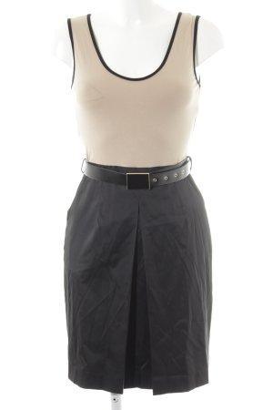 Mango Suit Trägerkleid schwarz-creme 2in1-Optik