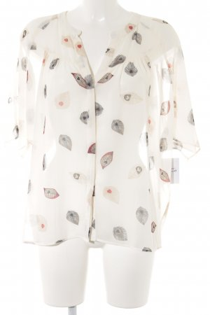 Mango Suit Transparenz-Bluse abstraktes Muster Casual-Look