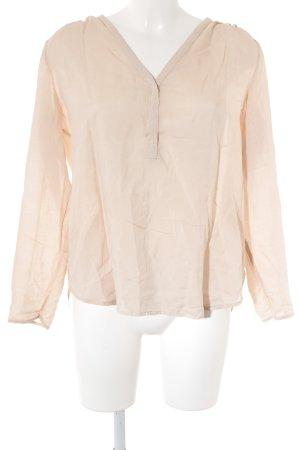 Mango Suit Transparenz-Bluse beige klassischer Stil