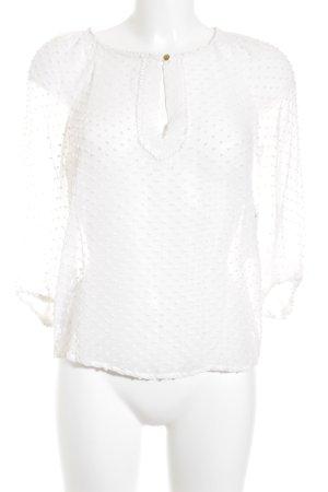 Mango Suit Transparenz-Bluse goldfarben-wollweiß Romantik-Look