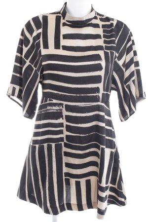 Mango Suit Tuniekjurk camel-zwart abstract patroon elegant