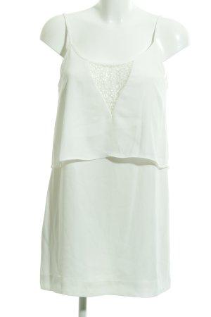 Mango Suit Robe tunique blanc élégant