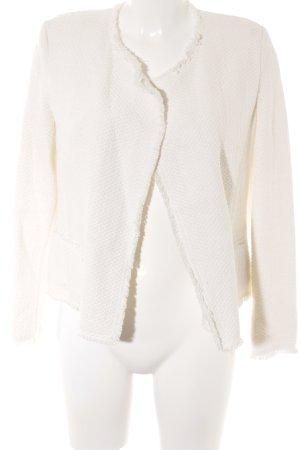Mango Suit Blazer in tweed bianco sporco stile professionale