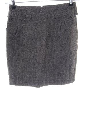 Mango Suit Tweed rok lichtgrijs volledige print zakelijke stijl