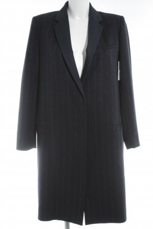 Mango Suit Übergangsmantel dunkelblau-grau Nadelstreifen Business-Look