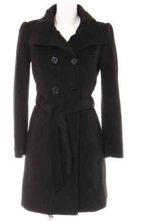 Mango Suit Übergangsmantel schwarz klassischer Stil