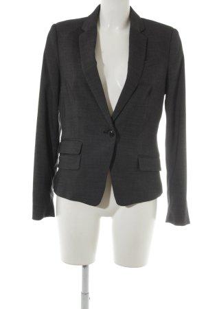 Mango Suit Unisex-Blazer schwarz meliert Business-Look