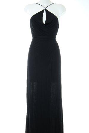 Mango Suit Wickelkleid schwarz Casual-Look