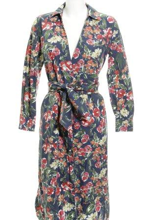 Mango Suit Vestido cruzado estampado floral look casual