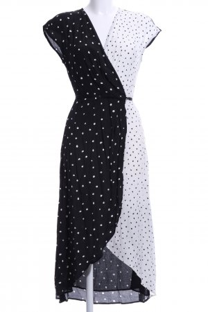Mango Suit Wraparound black-white spot pattern casual look