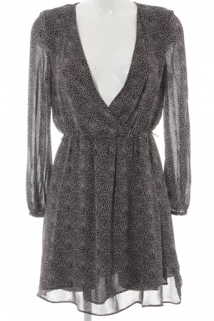 Mango Suit Wickelkleid schwarz-weiß Punktemuster Casual-Look