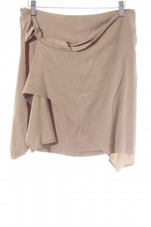 Mango Suit Wraparound Skirt camel casual look