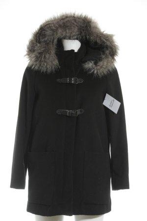Mango Suit Chaqueta de invierno negro estilo sencillo