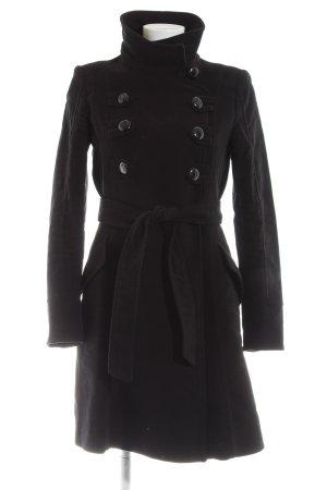 Mango Suit Wintermantel schwarz Casual-Look