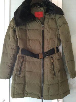 Mango Suit Manteau d'hiver vert olive-noir