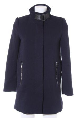 Mango Suit Wintermantel dunkelblau Casual-Look