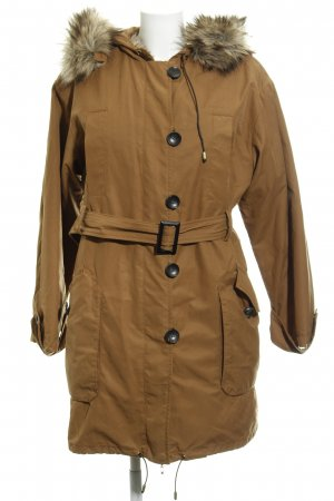 Mango Suit Wintermantel hellbraun Casual-Look