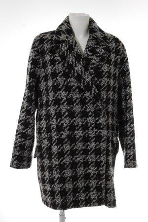 Mango Suit Wintermantel weiß-schwarz Casual-Look